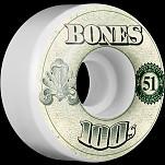 BONES 100's OG Formula 51x32 V4 Skateboard Wheel 100a 4pk