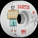 BONES STF Pro Bartie Thank You 54x32 V1 Skateboard Wheel 83B 4pk
