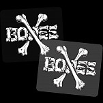 "BONES WHEELS Crossbones 5"" Sticker Single"