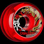 BONES SPF Pro Caballero Dragon 58x33 P5 Skateboard Wheel 84B 4pk Clear Red