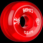 BONES SPF Clear Red 56x32 P5 Skateboard Wheel 84B 4pk