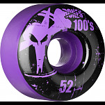 BONES WHEELS 100 Slims 52mm - Purple (4 pack)
