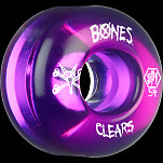 BONES SPF Clear Purple 54x34 P4 Skateboard Wheel 84B 4pk