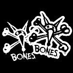 "BONES WHEELS Vato Stacked 12"" single sticker"