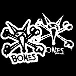 "BONES WHEELS Stacked 3"" Single Sticker"