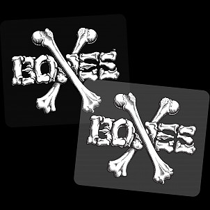 "BONES WHEELS Crossbones 5"" Sticker 20pk"