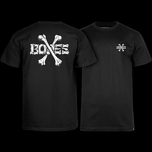 BONES WHEELS Crossbones T-shirt Black