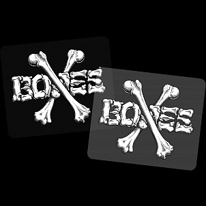 "BONES WHEELS Crossbones 3"" Sticker Single"
