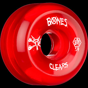 BONES WHEELS SPF Clear Red 54mm 4pk
