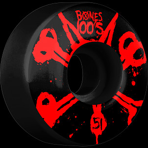 BONES WHEELS 100's Black 51mm 4pk