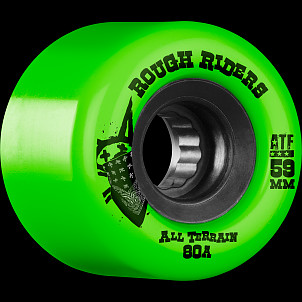 BONES WHEELS Rough Riders 59mm Green Wheel 4pk