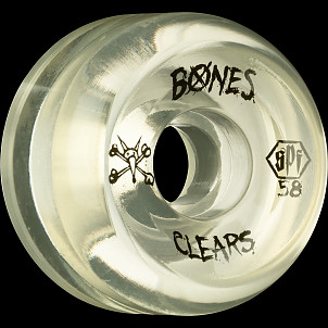 BONES SPF Clear Natural 58x33 P5 Skateboard Wheel 84B 4pk