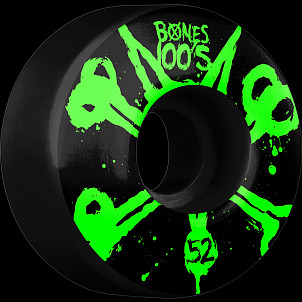 BONES WHEELS 100's Black 52mm 4pk