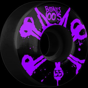 BONES WHEELS 100's Black 55mm 4pk