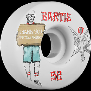 BONES STF Pro Bartie Thank You 52x31 V1  Skateboard Wheel 83B 4pk