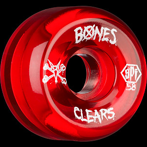 BONES SPF Clear Red 58x33 P5 Skateboard Wheel 84B 4pk
