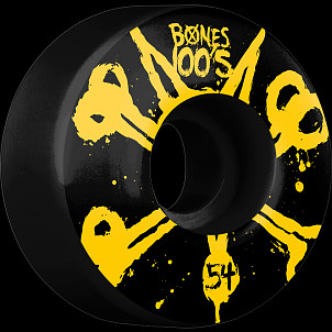 BONES WHEELS 100's Black 54mm 4pk