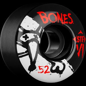 BONES WHEELS STF V1 Series 52mm Black(4 pack)