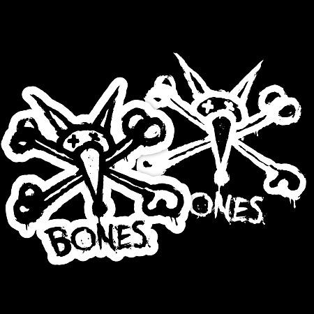 """BONES WHEELS Stacked 3"""" Single Sticker - BONES WHEELS"""