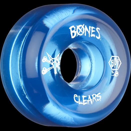 BONES SPF Clear Blue 58x33 P5 Skateboard Wheel 84B 4pk