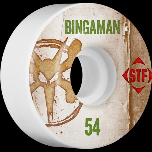 BONES WHEELS STF Pro Bingaman Team Vintage Wheel 54mm 4pk
