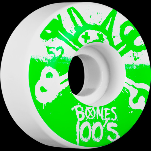 BONES WHEELS 100's 52mm 4pk