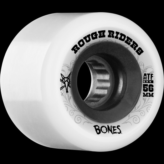BONES WHEELS Rough Rider 56mm White Wheel 4pk