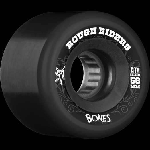 BONES WHEELS Rough Riders Black 56mm 4pk