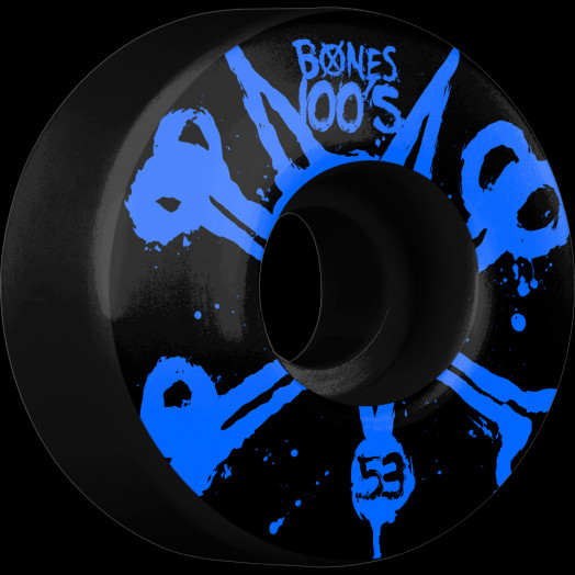 BONES WHEELS 100's Black 53mm 4pk