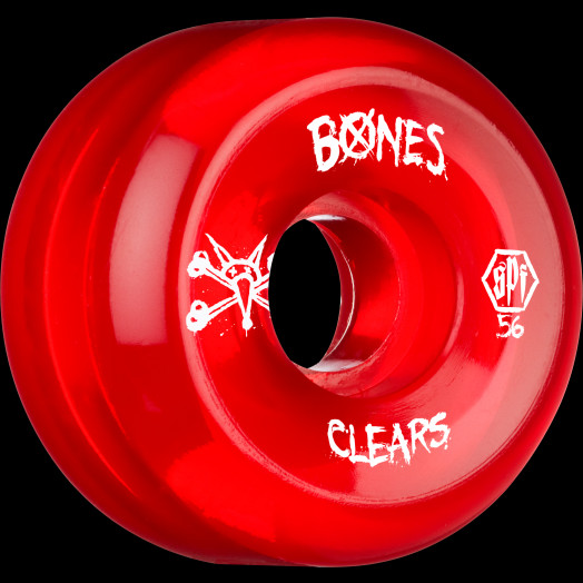 BONES WHEELS SPF Clear Red 56mm 4pk