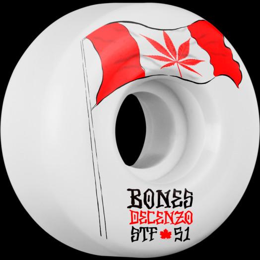 BONES WHEELS STF Pro Decenzo Flowers 51mm 4pk