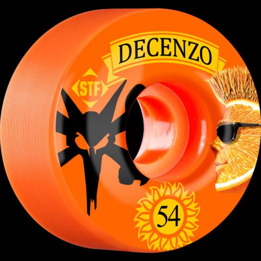 BONES WHEELS STF Pro Decenzo Shock 54mm wheels 4pk Orange