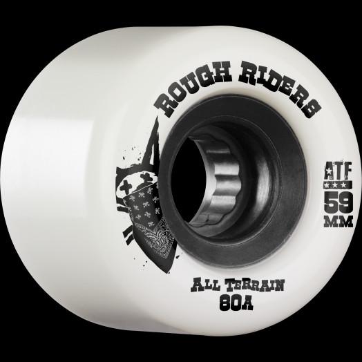 BONES WHEELS Rough Riders 59mm White Wheel 4pk