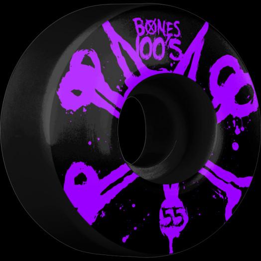 BONES WHEELS 100's Black 55mm 4pk