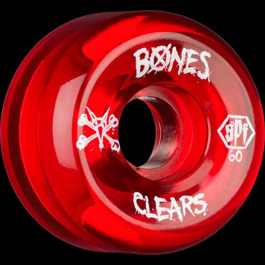 BONES WHEELS SPF Clear red 60mm 4pk