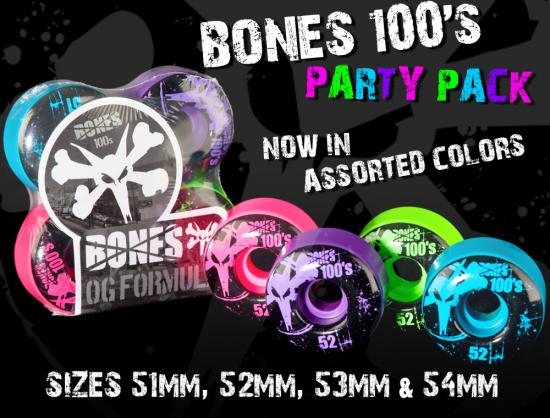 BONES Wheels Party Pack