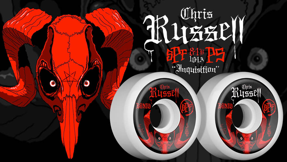 BONES SPF PRO RUSSELL INQUISITION P5 SKATEBOARD WHEELS 84B 4PK