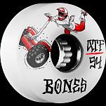 BONES ATF SEG Cross 54x33  Skateboard Wheel 80a 4pk