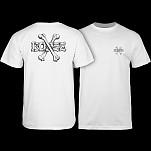 BONES WHEELS Crossbones T-shirt - White
