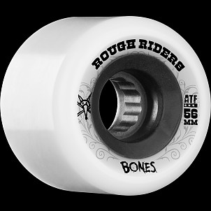 BONES WHEELS Rough Riders 56mm White Wheel 4pk