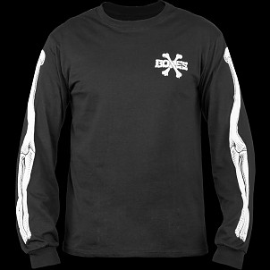 BONES WHEELS LS Cross Bones Shirt Black