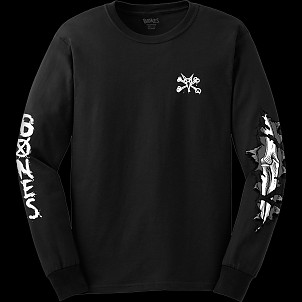 BONES WHEELS Shred L/S Black