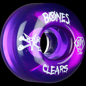 BONES SPF Clear Purple 56x37 P2 Skateboard Wheel 4pk