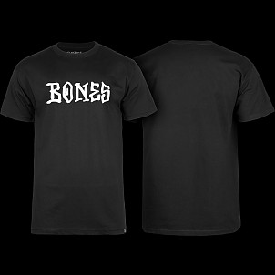BONES WHEELS BW Frontal Youth T-shirt Black