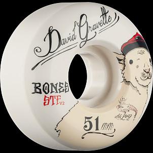 BONES STF Pro Gravette Baby Lamb 51x28 V2 Skateboard Wheel 83B 4pk