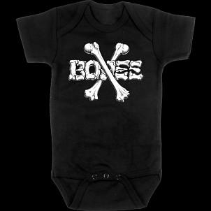 BONES WHEELS Crossbones Onesie Black
