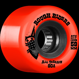 BONES WHEELS Rough Riders 59mm Red Wheel 4pk