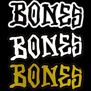 """BONES WHEELS 3"""" BONES Sticker Single"""