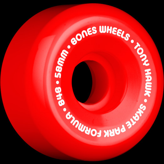 BONES SPF Pro Hawk Mini Cube 58x33 P5 Skateboard Wheel 4pk Red