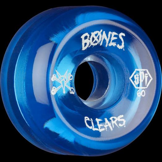 BONES SPF Clear Blue 60x34 P5 Skateboard Wheel 84B 4pk